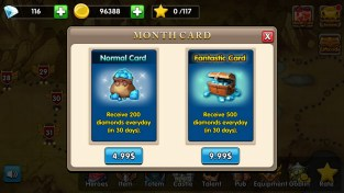 Monthly cards