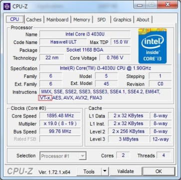 CPU-z Virtualization