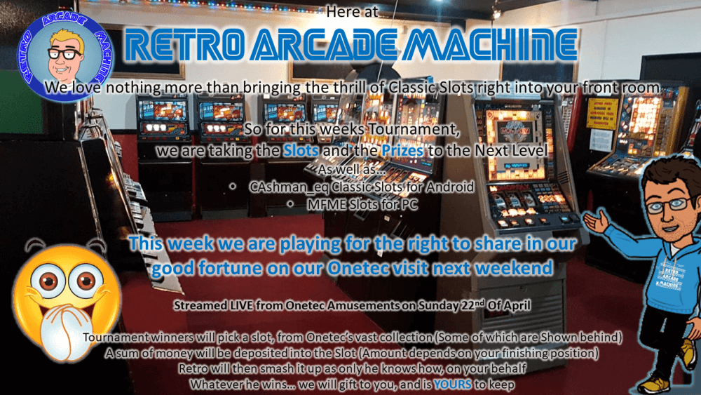 Retro Arcade Machine Onetec Flutter Tournament