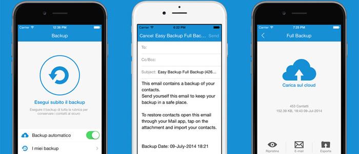 copiare contatti da iphone ad android