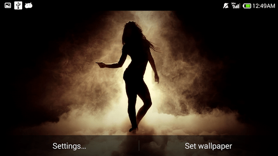 Silhouette Girl Real Wallpaper Android Giveaway Of The Day Sexy Dancing Girl Wallpaper