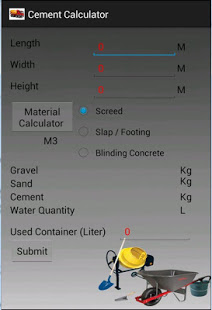 giveaway androide du jour concrete and cement calculator