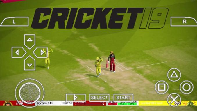 Cricket 19 PPSSPP Download ISO Android Game