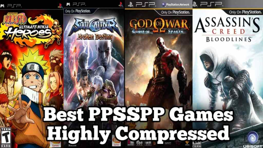 Best PPSSPP games highly compressed download