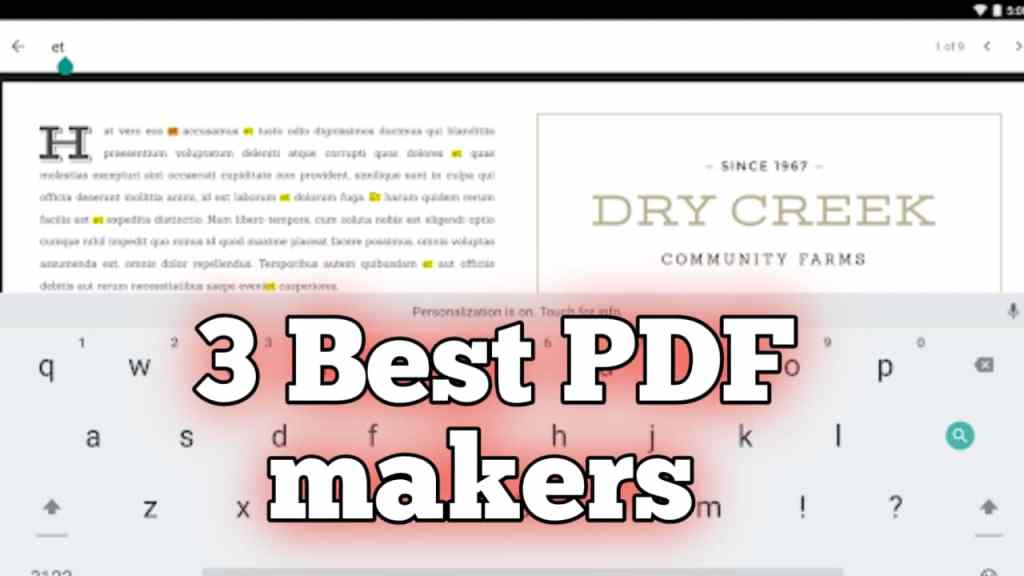 3 PDF File Maker or Reader App For iPhone/Android Mobile Free