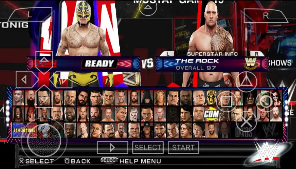 WWE 2K22 PPSSPP characters