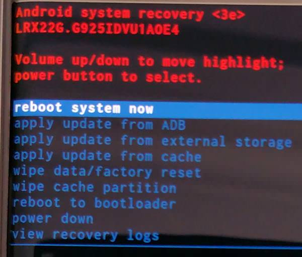 How to Boot into Galaxy S6 Recovery Mode