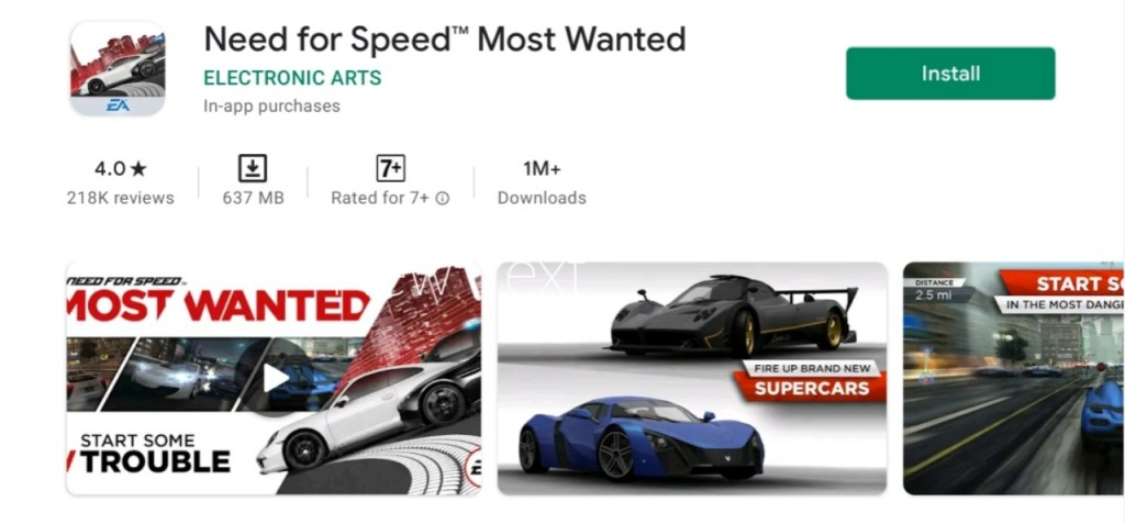Need For Speed Most Wanted Apk Download