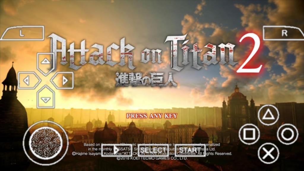 Attack On Titan 2 PPSSPP ISO File Free Android Download