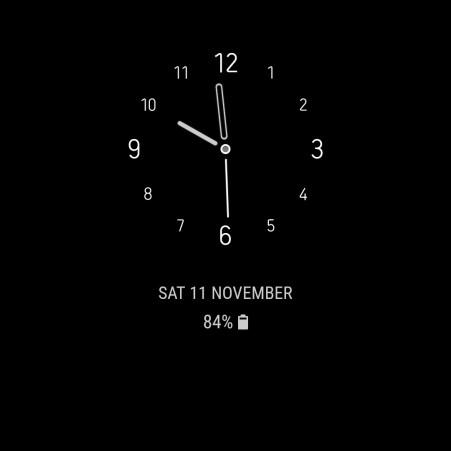 Samsung Galaxy S8 Always on Display Clock 5