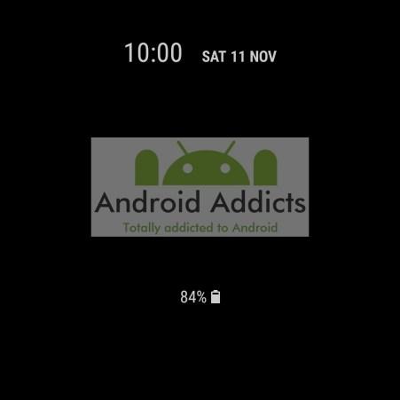 Samsung Galaxy S8 Always on Display Clock 9