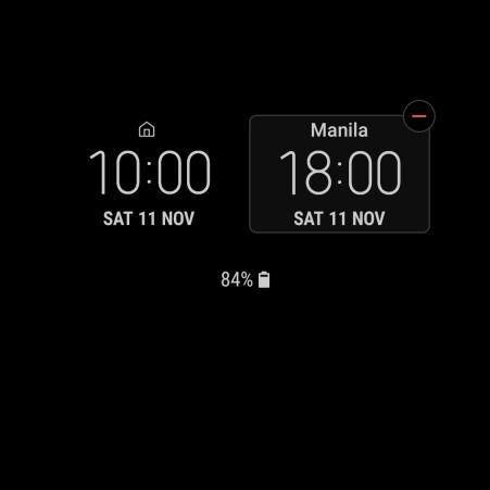 Samsung Galaxy S8 Always on Display Clock 11