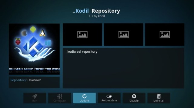 Install kodi repository