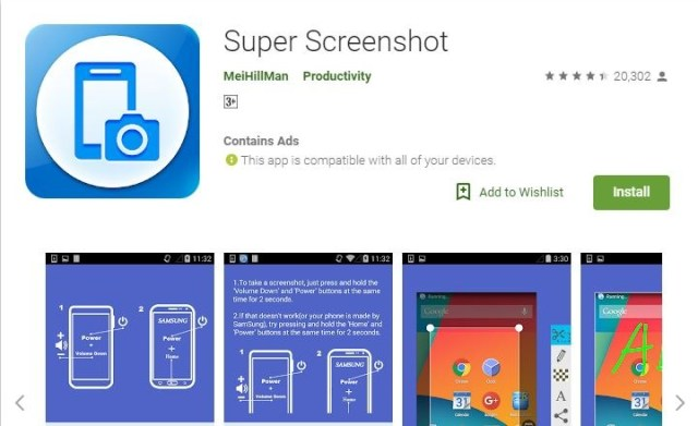 screenshot app for android no root