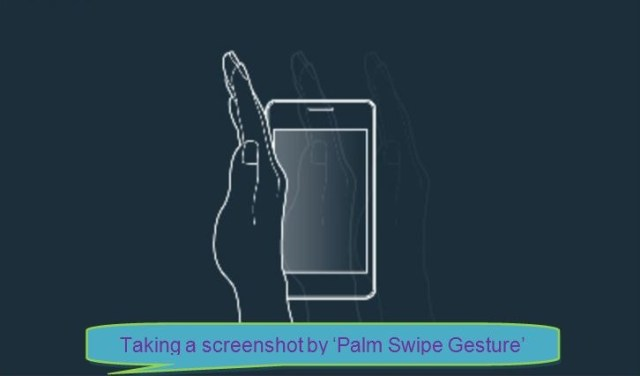 Take a screenshot by Swipe Gesture