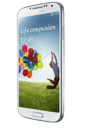 Samsung Galaxy S4 blanco girado