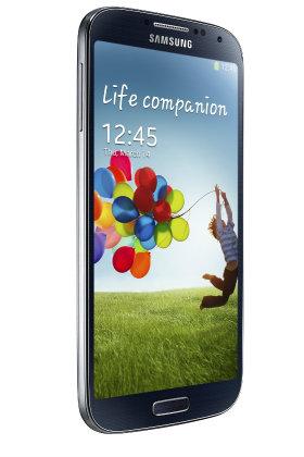 Samsung Galaxy S4 girado