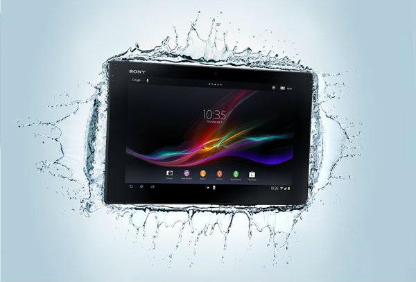 Sony Xpria Tablet Z fuerte al agua
