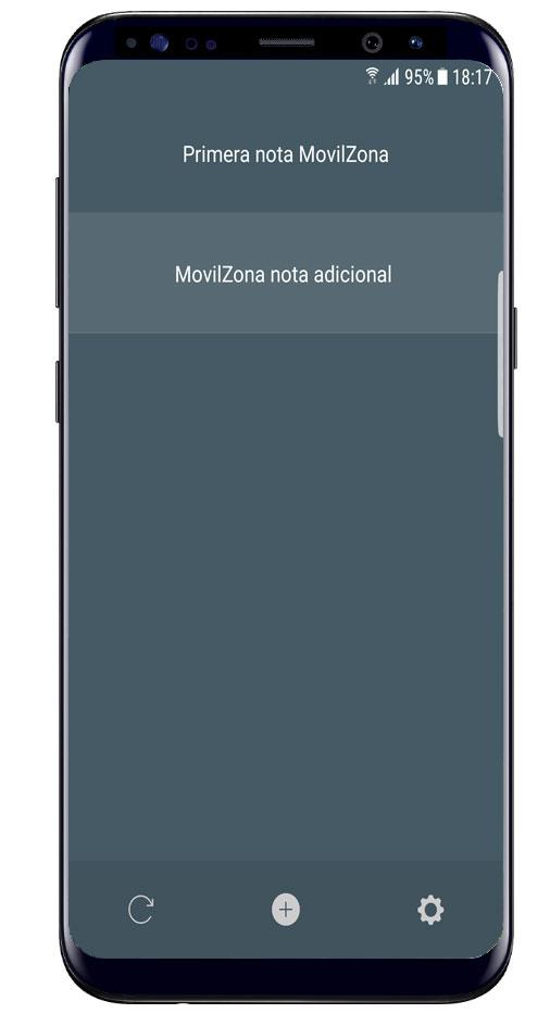 Notas en pantalla de bloqueo en Memory Helper