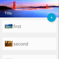 Working with Material Design and Activity Transition