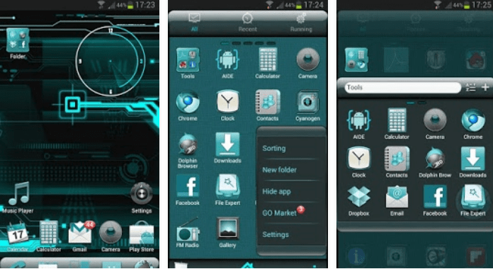 Best free Go Launcher Themes Download CYANOGEN for Android