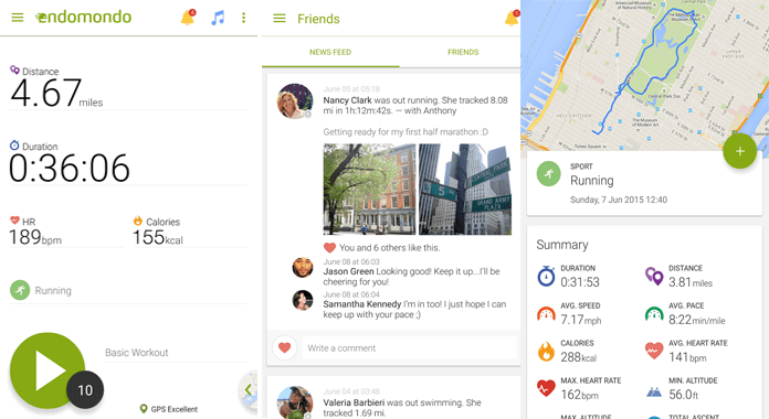 Downlaod Endomondo Sports Tracker for Android