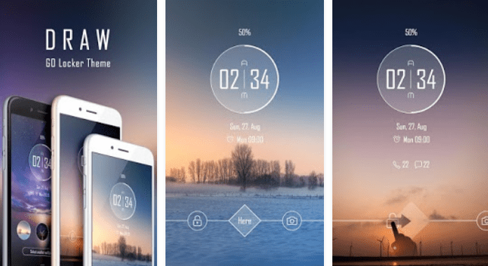 Draw Best Free Go Locker Themes for Android