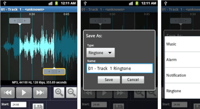 Best Ringtone Makers for Android MP3 Ringtone Maker App