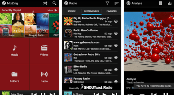 MixZing Best Android Music player Apps