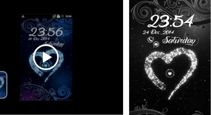 Star Heart (Gray) Best Free Go Locker Themes for Android