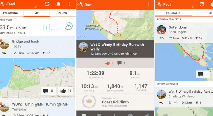 trava Running and Cycling GPS