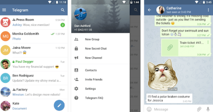 Download Best Messaging Apps for Android Telegram