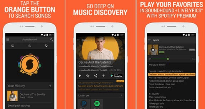 SoundHound Best Free Music Apps for Android
