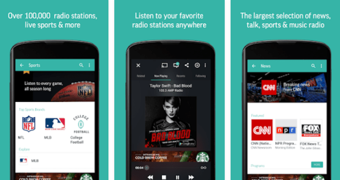 TuneIn Radio Best Free Music Apps for Android