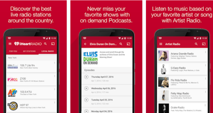 Best Free Music Apps for Android iHeartRadio