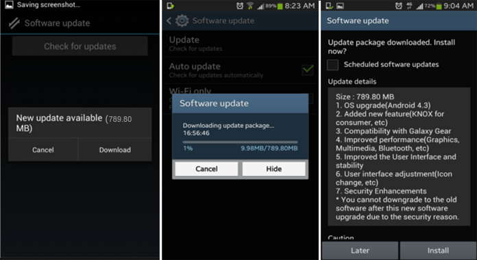 how to update android to latest version on Smartphone or Tablet easily