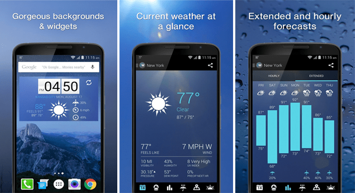 1Weather Widget Forecast Radar Best Weather Apps for Android