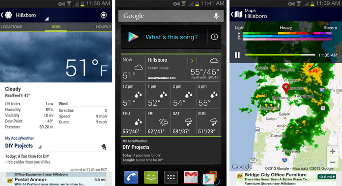 Accu Weather Widget Best Weather Apps for Android