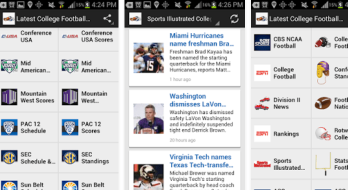 Top 11 Best College Football Apps for Android - 2016 Latest College Football News