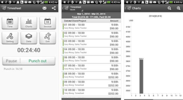 Download Best Time Tracking Apps for Android Timesheet - Work Time Tracker