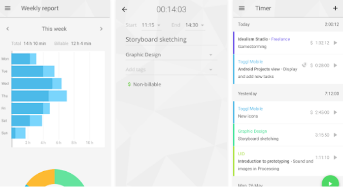 Donload Best Time Tracking Apps for Android Toggl Time Tracker, Timesheet