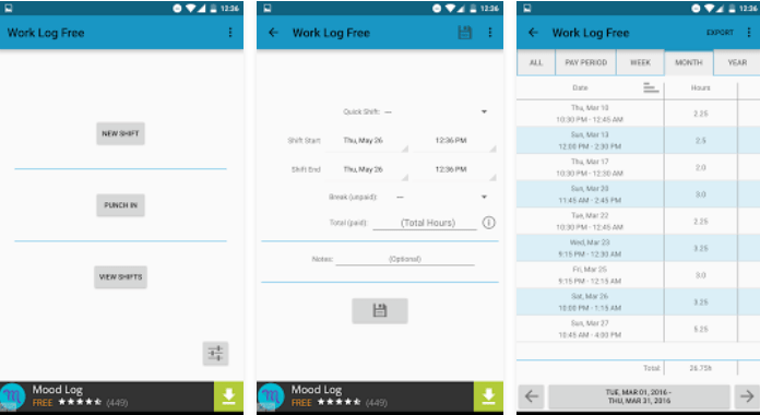 To & Best Time Tracking Apps for Android Work Log