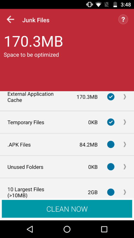 Systweak Android Cleaner Junk Files
