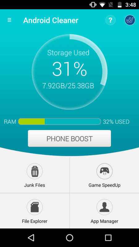 Systweak Android Cleaner Phone Boost