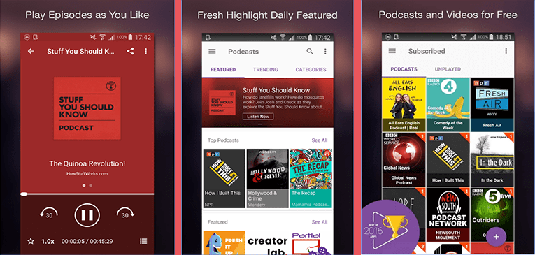 Best Podcast Apps for Android CastBox - Podcast Radio Music Free Download