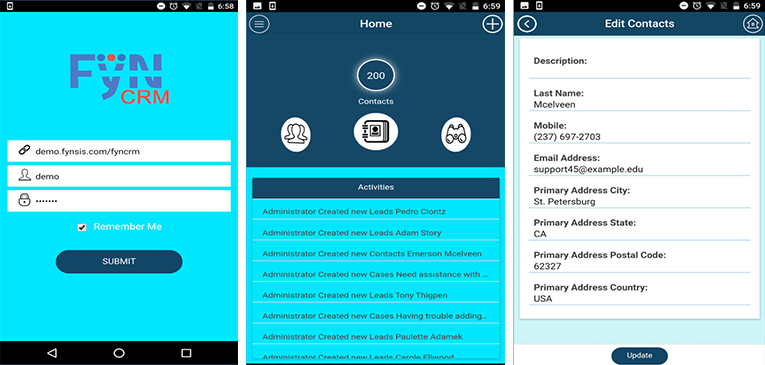 Free SuiteCRM Mobile CRM App FyNCRM for Android Review