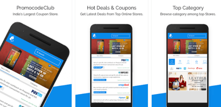 Best Coupon Apps for Android PromoCodeClub - Coupons & Deals on Online Shopping