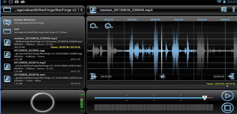 Best Music Recording Apps for Android RecForge Pro Audio Recorder