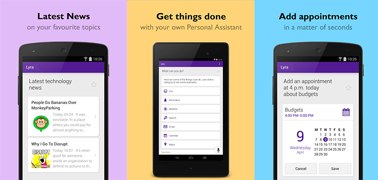 Best Personal Assistant Apps for Android - Lyra Virtual Assistant