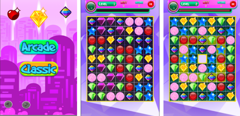 Jewel Crush Match 3 Puzzle game for Android